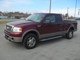 2006 Dark Toreador Red Metallic Ford F150 Lariat SuperCab 4x4 #60445490