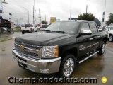2012 Black Chevrolet Silverado 1500 LT Crew Cab #60444814