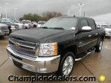 2012 Black Chevrolet Silverado 1500 LT Crew Cab #60444811
