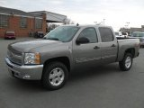 2012 Graystone Metallic Chevrolet Silverado 1500 LT Crew Cab 4x4 #60445480