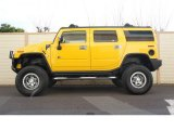 Yellow Hummer H2 in 2003
