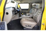2003 Hummer H2 SUV Lux Wheat Interior