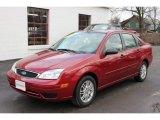 2005 Sangria Red Metallic Ford Focus ZX4 SE Sedan #60506879