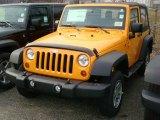 2012 Dozer Yellow Jeep Wrangler Sport 4x4 #60506240