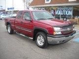 2005 Sport Red Metallic Chevrolet Silverado 1500 Z71 Extended Cab 4x4 #60506558