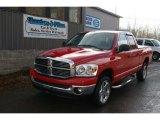 2007 Flame Red Dodge Ram 1500 Big Horn Edition Quad Cab 4x4 #60506550