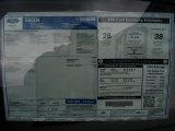 2012 Ford Focus SE Sedan Window Sticker