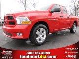 2012 Flame Red Dodge Ram 1500 Express Quad Cab 4x4 #60506487