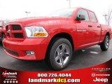 2012 Flame Red Dodge Ram 1500 Express Quad Cab #60506486