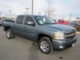 2009 Blue Granite Metallic Chevrolet Silverado 1500 LTZ Crew Cab 4x4 #60561750