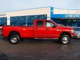 2007 Flame Red Dodge Ram 3500 SLT Quad Cab 4x4 Dually #60561367