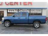2008 Electric Blue Pearl Dodge Ram 1500 SLT Quad Cab 4x4 #60561716