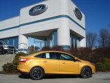 2012 Yellow Blaze Tricoat Metallic Ford Focus SE Sport Sedan #60561363