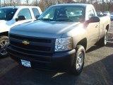 2012 Graystone Metallic Chevrolet Silverado 1500 Work Truck Regular Cab 4x4 #60561274