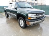 2002 Forest Green Metallic Chevrolet Silverado 1500 LS Extended Cab 4x4 #60561597