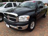 2008 Brilliant Black Crystal Pearl Dodge Ram 1500 SXT Quad Cab #60625083