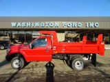 2012 Vermillion Red Ford F350 Super Duty XL Regular Cab 4x4 Dump Truck #60624759