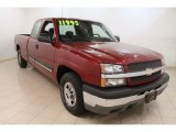 2004 Sport Red Metallic Chevrolet Silverado 1500 LS Extended Cab #60657032