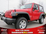 2012 Flame Red Jeep Wrangler Sport 4x4 #60656810