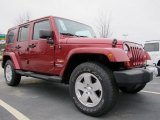 2012 Jeep Wrangler Unlimited Deep Cherry Red Crystal Pearl