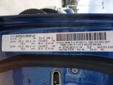 2010 Ram 3500 Color Code for Deep Water Blue - Color Code: PBS
