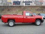 2012 Victory Red Chevrolet Silverado 1500 Work Truck Regular Cab 4x4 #60696236