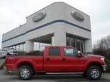 2012 Vermillion Red Ford F250 Super Duty XLT Crew Cab 4x4 #60696120