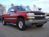 2002 Victory Red Chevrolet Silverado 1500 LS Extended Cab 4x4 #60696100