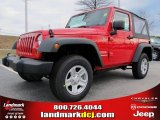 2012 Flame Red Jeep Wrangler Sport 4x4 #60752920