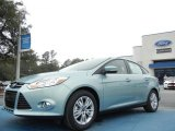 2012 Frosted Glass Metallic Ford Focus SEL Sedan #60752856