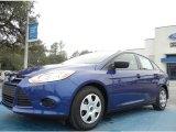 2012 Sonic Blue Metallic Ford Focus S Sedan #60752851