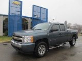 2008 Blue Granite Metallic Chevrolet Silverado 1500 LS Extended Cab 4x4 #60752838