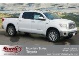2012 Super White Toyota Tundra Platinum CrewMax 4x4 #60752679