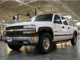 2002 Summit White Chevrolet Silverado 1500 HD LT Crew Cab #6044779