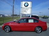 2012 Melbourne Red Metallic BMW 3 Series 335i Sedan #60805105