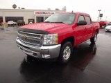 2012 Victory Red Chevrolet Silverado 1500 LT Crew Cab 4x4 #60839536