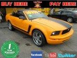 2007 Grabber Orange Ford Mustang V6 Deluxe Convertible #60839720