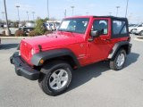 2012 Flame Red Jeep Wrangler Sport S 4x4 #60805290