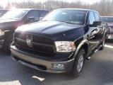 2012 Black Dodge Ram 1500 Outdoorsman Crew Cab 4x4 #60839606