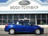 2012 Sonic Blue Metallic Ford Focus SE Sedan #60805016