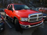2002 Flame Red Dodge Ram 1500 SLT Quad Cab 4x4 #60804769