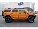2006 Fusion Orange Hummer H2 SUV #60934561