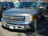 2012 Graystone Metallic Chevrolet Silverado 1500 LS Crew Cab 4x4 #60973333