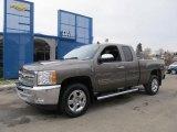 2012 Mocha Steel Metallic Chevrolet Silverado 1500 LT Extended Cab 4x4 #60973268
