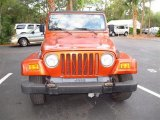 2000 Jeep Wrangler Amber Fire Pearl