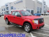 2010 Vermillion Red Ford F150 STX SuperCab 4x4 #60973173
