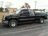 2004 Black Chevrolet Silverado 1500 LS Extended Cab 4x4 #60973480