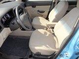 2009 Hyundai Accent GLS 4 Door Beige Interior