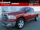 2010 Inferno Red Crystal Pearl Dodge Ram 1500 Big Horn Crew Cab #60973353