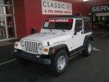 2006 Stone White Jeep Wrangler Rubicon 4x4 #61026974